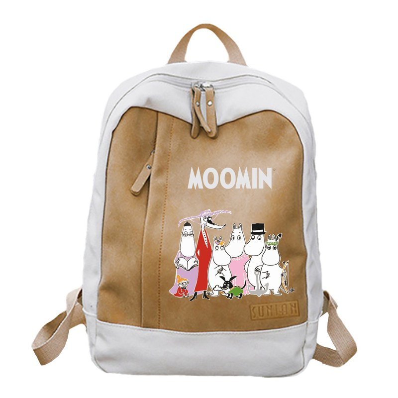 Moomin 噜噜米 authorized - pastel backpack (coffee), AE02