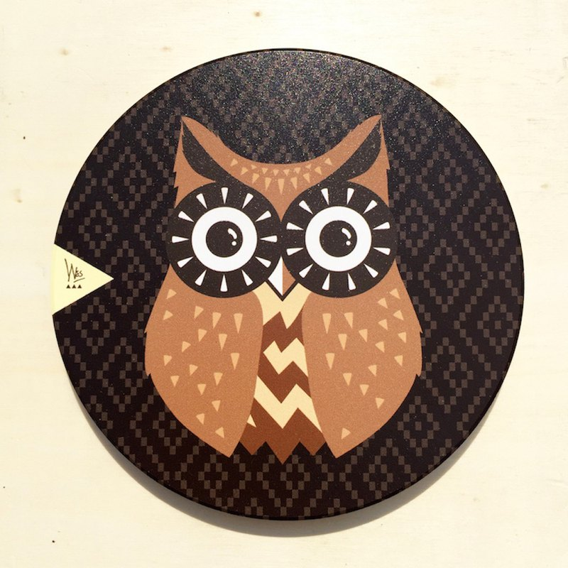 [Forest Animal Series] Q Version Owl Ceramic Water Coaster