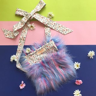 Cotton Candy Furry Friend Bag