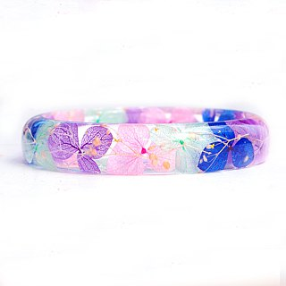 FlowerSays / The Northern Lights - Hydrangea Real Flower Bracelet /