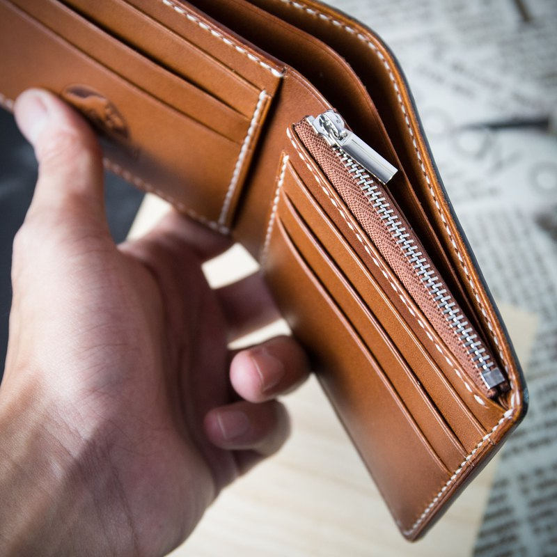 Plus purchase [Zero money short clip / wallet / boys wallet] MISTER hand made / seam leather