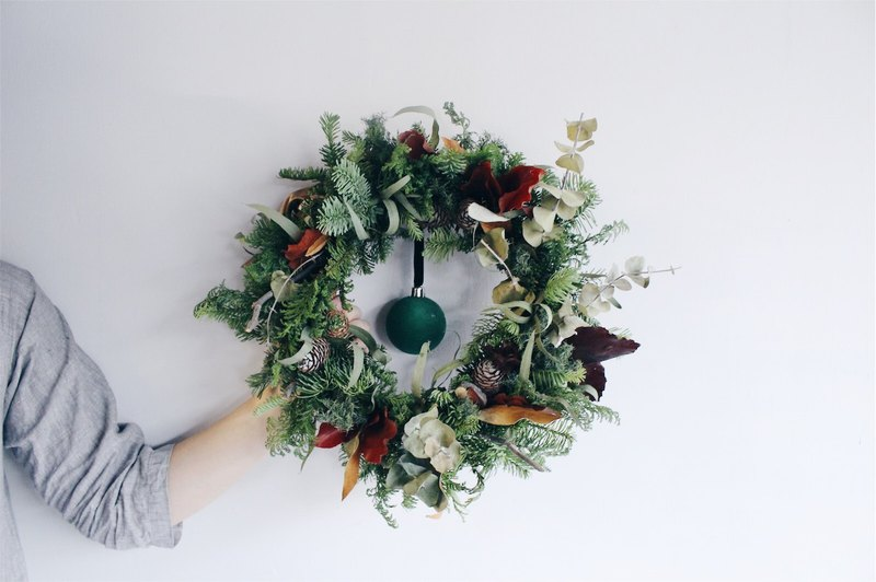 Flower Wreath! [The God of the Forest - Pan] Dry Flower Wreath Arrangement Christmas Decoration M