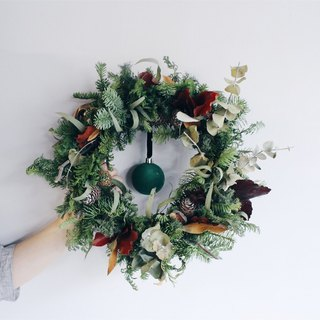 Flower Wreath! [The God of the Forest - Pan] Dry Flower Wreath Arrangement Christmas Decoration