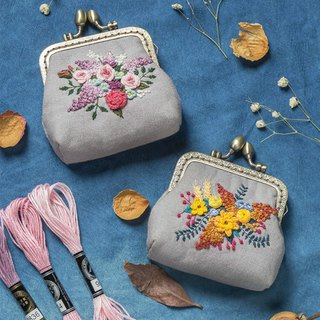 Wild vine grass DIY hand made gold bag material package three-dimensional embroidery flower creative adult entry kit