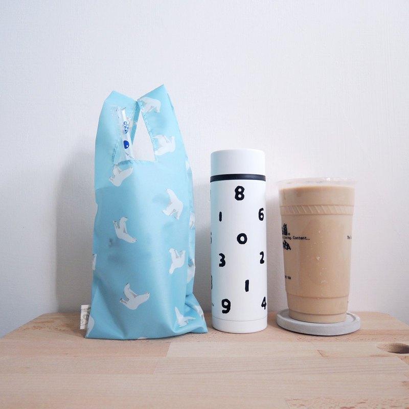 貍拉 =環保飲料提袋= 飲料/食物兩用提袋 -北極熊