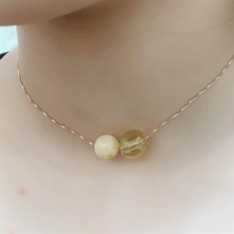 Topaz November Birthstone Diffuser Necklace Rose Gold S925