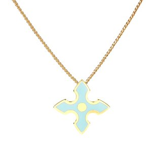 Chivalry Sir Lancelot filigree enamel necklace (gold) -18,212,151,117