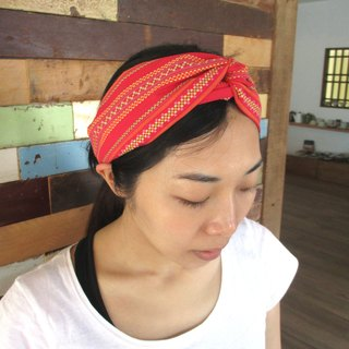 Cross hair band (elastic manual) - Fang Li Cheng - red