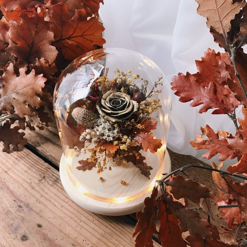 Autumn/Winter New Products / Eternal Flower Metal Rose Night Light / FLORA FLOWER / Wedding Small Things