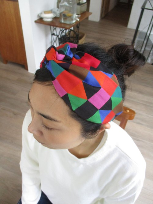 Cross hair band (elastic handmade) - palette