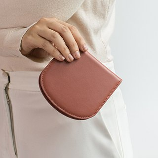 """Arch"" slim leather wallet in Coral pink"