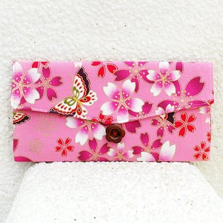 Cherry red butterfly bag _ powder / pouch