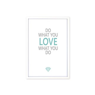 HomePlus Decorative Frame Do What You Love Magazine White 63x43cm Wall Decor