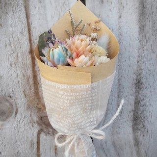 With real flowers|| quiet light dry flowers small bouquet hand made wedding small things
