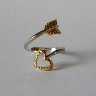 Love Arrow Ring(sv*gold)