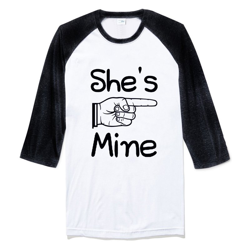 She's Mine Sleeveless T-Shirt Neutral White Black He is My Valentine's Day Tanabata Gifts Lovers Wen Qing Art Design Text Wedding