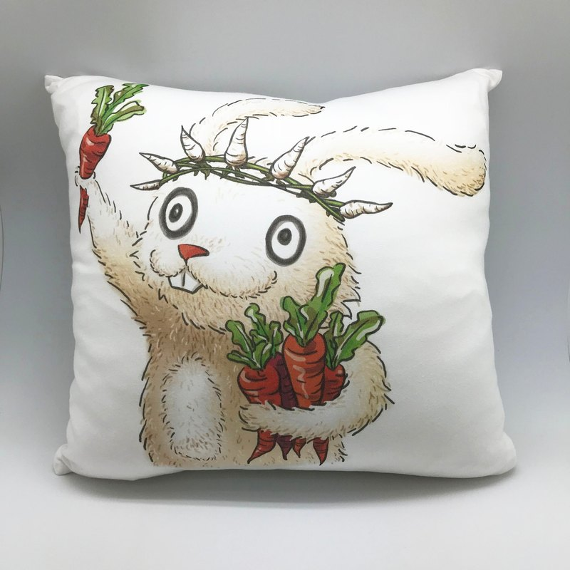 Soft-touch organic cotton pillow (with pillows and graffiti for children)