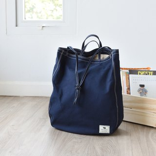 Oversize Tote Bag - navy blue