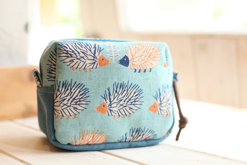 [Good day]. Little hedgehog fat bag. Storage package. Cosmetic bag
