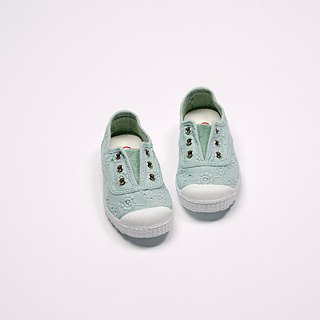 Spanish nationals canvas shoes CIENTA children's shoes jacquard light green fragrance shoes 70998 50