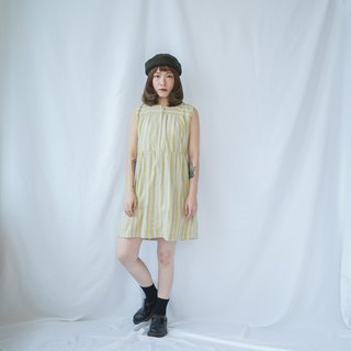 Vintage Cream Striped Dolly Dress