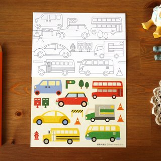 Postcard stickers Group: a large collection of truck