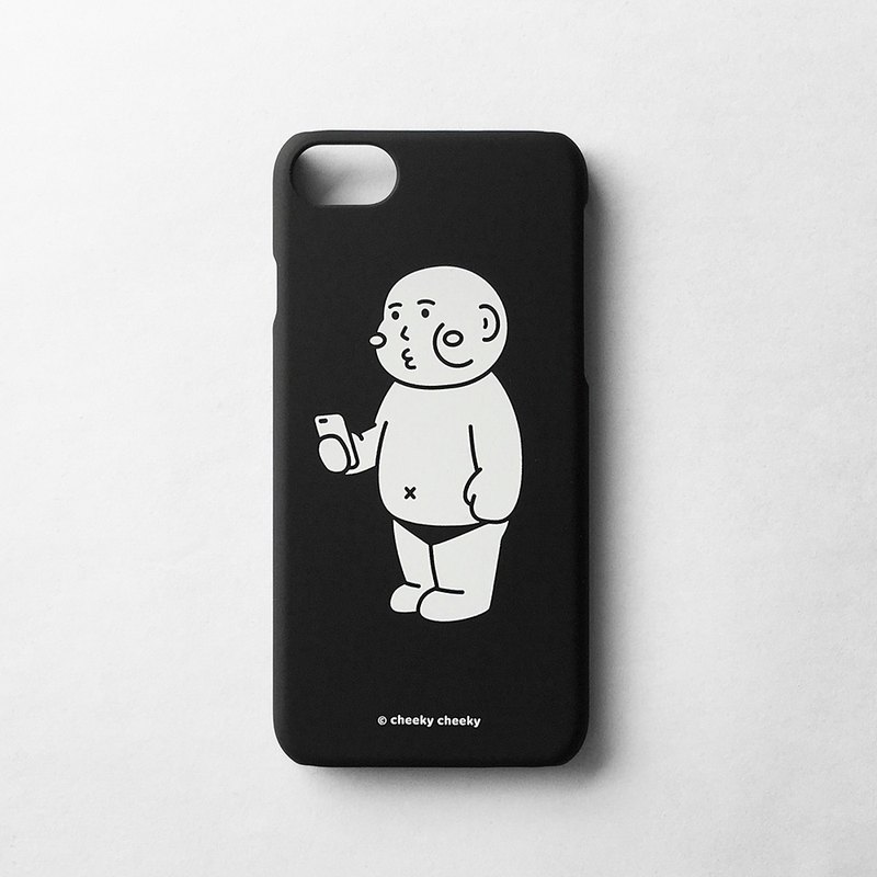 Cheeky cheeky thick face in looking at mobile phone case phone case black version