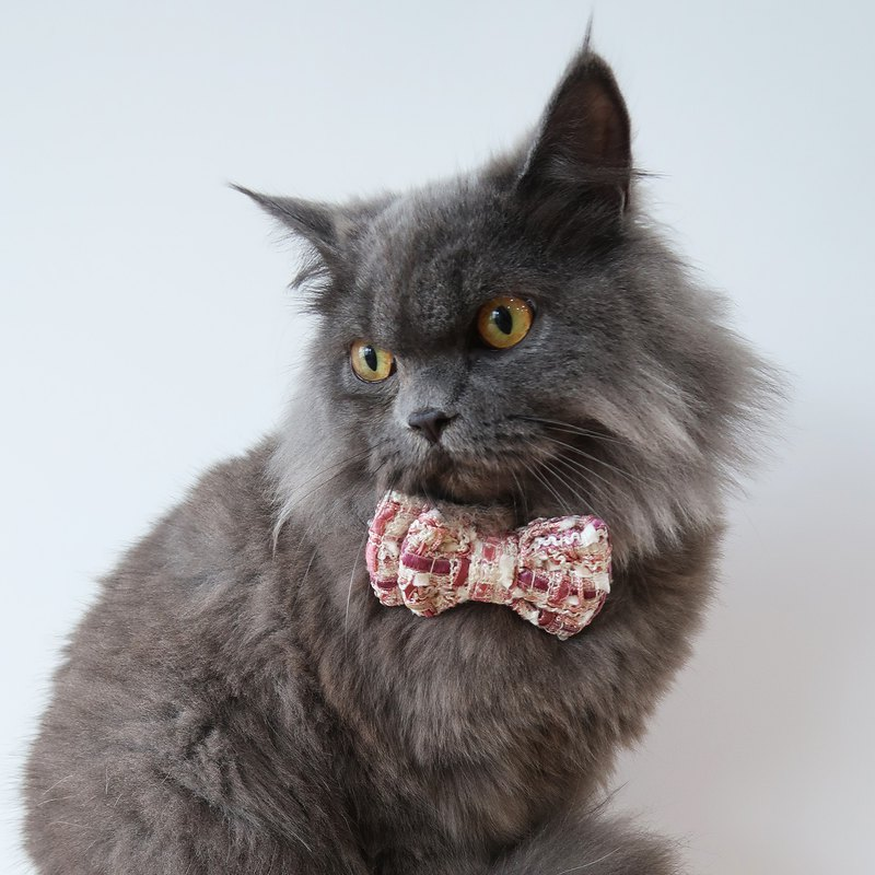 Mae Tweed Bowtie for Pets