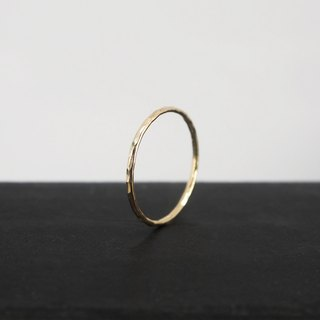 No.252.2 SILK THREAD RING 金絲線戒 (鎚紋) - 14K GF
