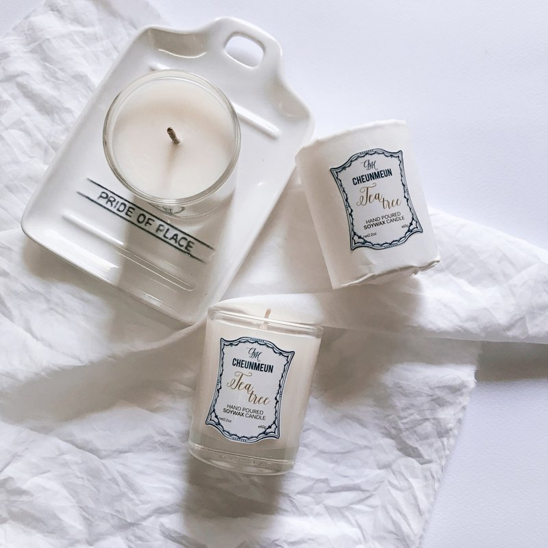 Fresh Travel Candle Soy-Wax /  Tea-Tree scent