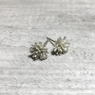 Origami flowers. Origami carnations earrings. 925 sterling silver. sterling silver