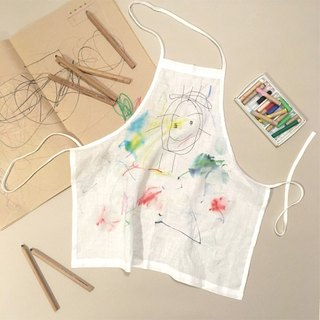 KIDS Graffiti apron  white