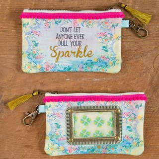 Pom-pom piping canvas ticket purse-Your Sparkle ∣ CPRS137