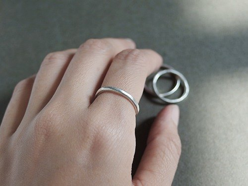 Free silver feel ring