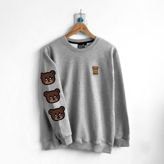 [BestFriend] Bear! Bear! Bear! Long Sleeve Sweat / Long Sleeve T (Gray)