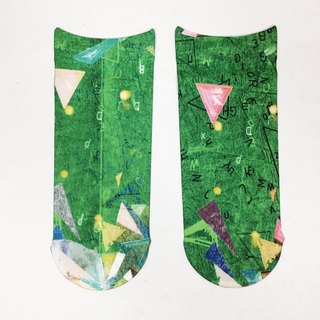 artist socks Green collage pattern print socks