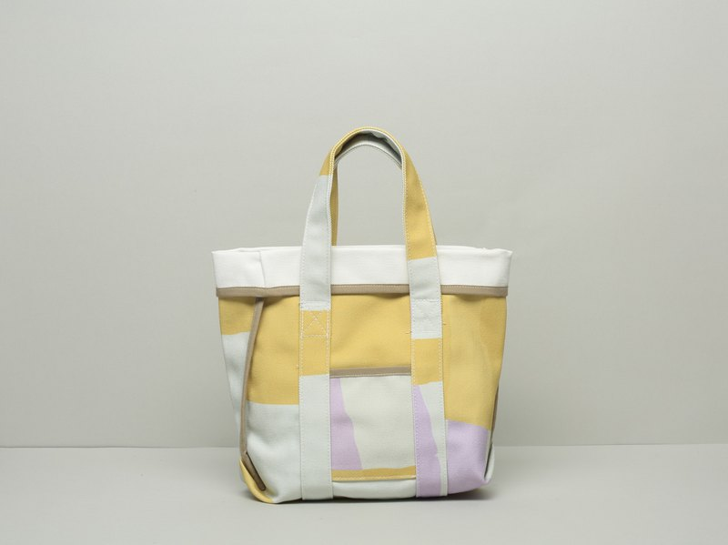 Asymmetrical pouch / waterproof paint / yellow violet