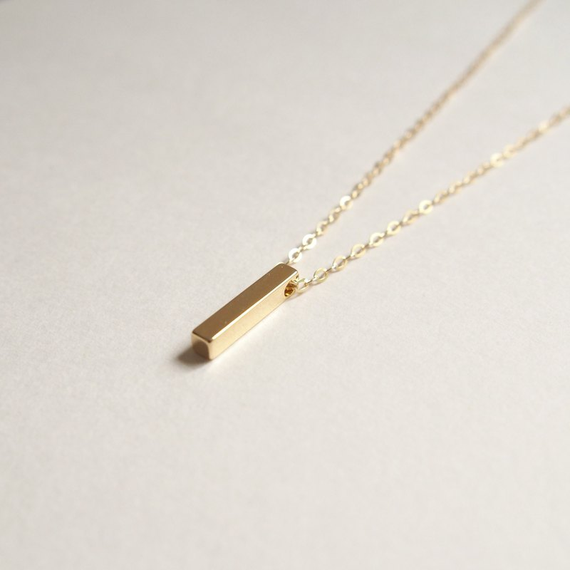Minimalist, imported gold-plated square bar, gold-plated necklace (40cm / 16吋)