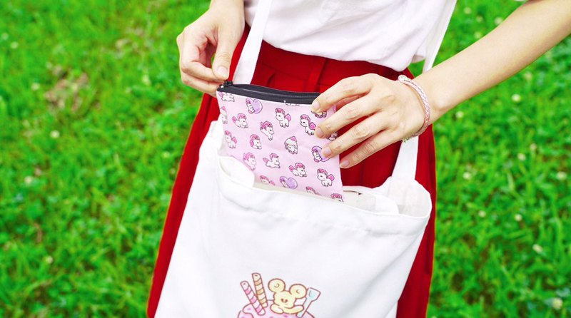 [All 6 kinds] Honey Kura zipper storage bag (coin wallet)