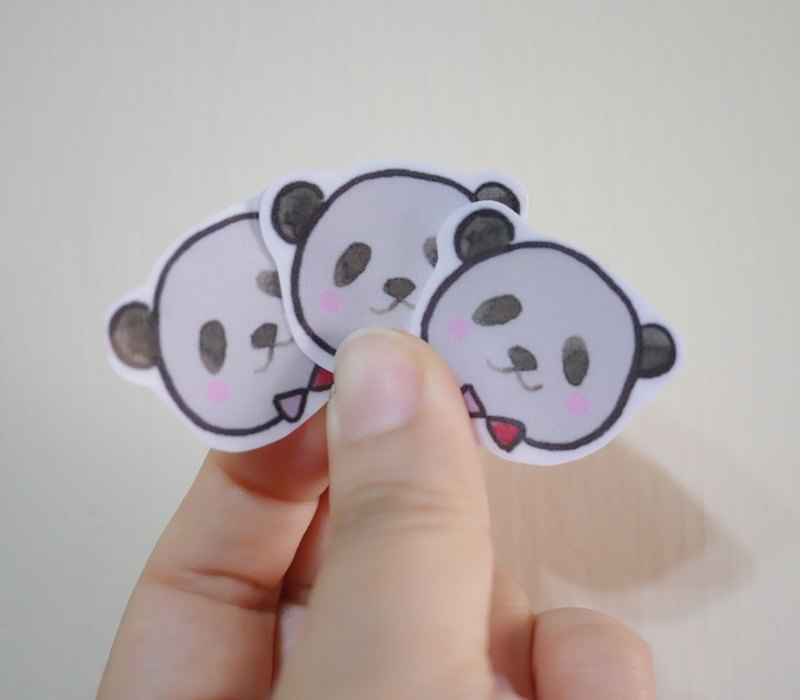 Hand-painted illustration style completely waterproof stickers red panda pack into a six