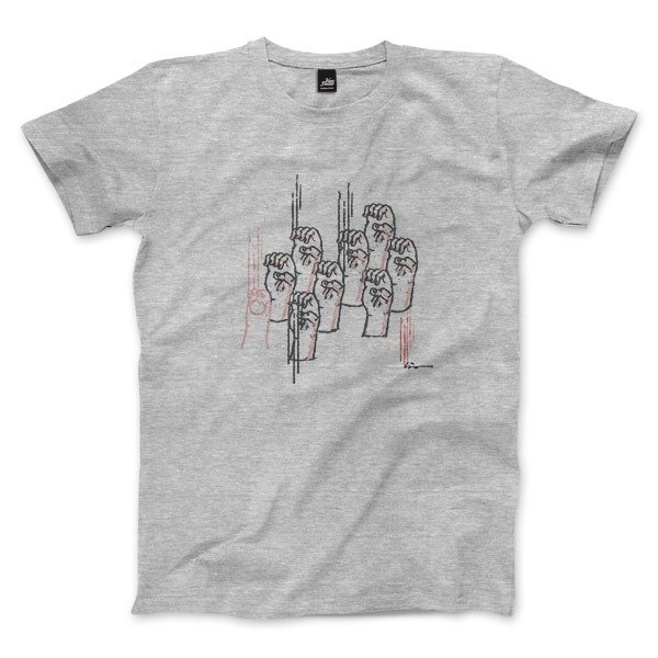Scratched - Deep Heather Grey - Unisex T-Shirt