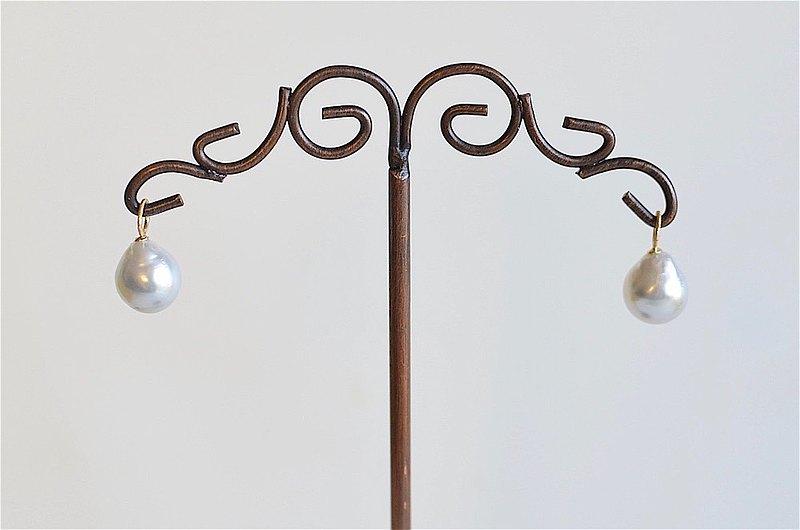 吊墜耳针/耳夾對吊飾南海珍珠