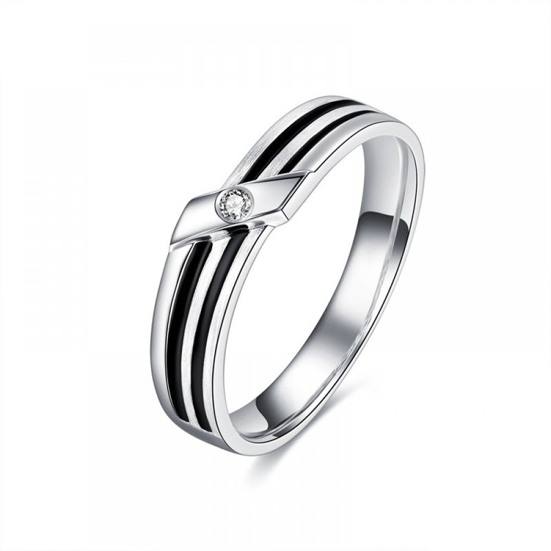 Diamond with 316L Surgical Steel Ring Casting Jewelry for Male