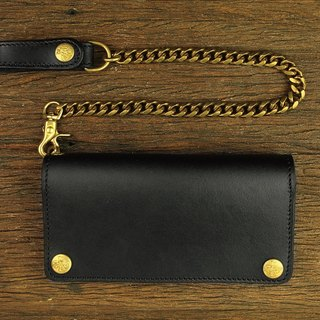 [METALIZE] basic trucker wallet waist chain