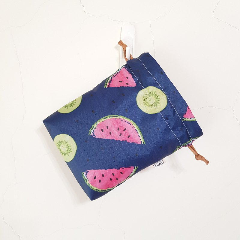 [Summer Watermelon] Bundle pocket storage bag with Christmas gift exchange