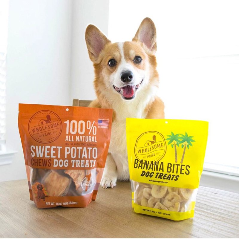 High-fiber Fruit and Vegetable Dog Snacks Wholesome Pride Banana Chips