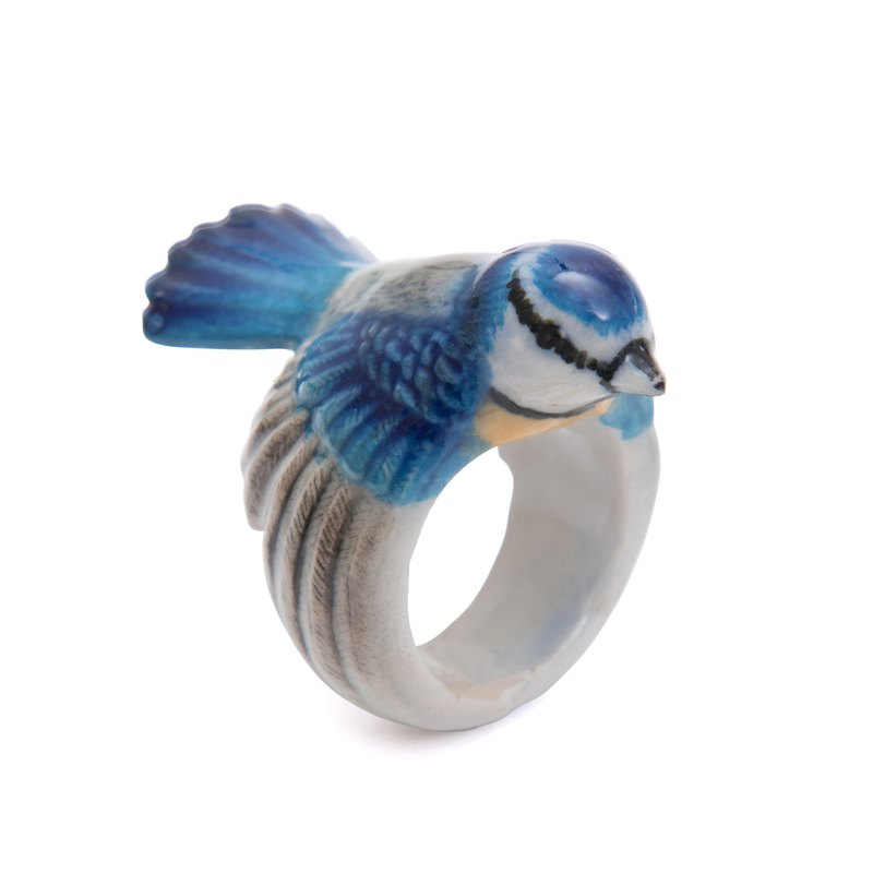 And Mary Blue Tit Ring | 17.5mm | Gift Box