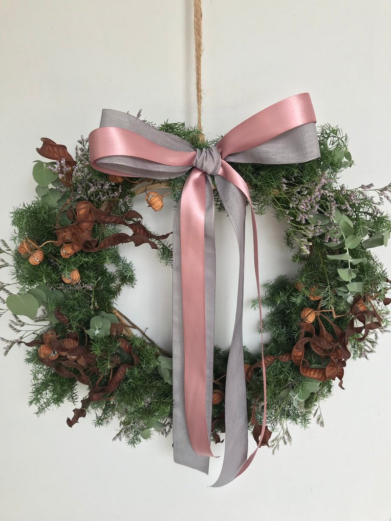 Cedar Moon Peach Wreath