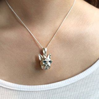Frankness Original | 925 Sterling Silver Stereo Doggy Necklace - Rose Gold / Handmade / Gift / Customized / Customized