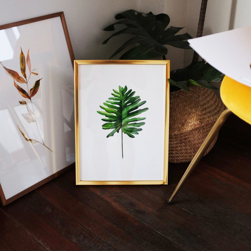 Watercolor painting / Split leaf philodendron